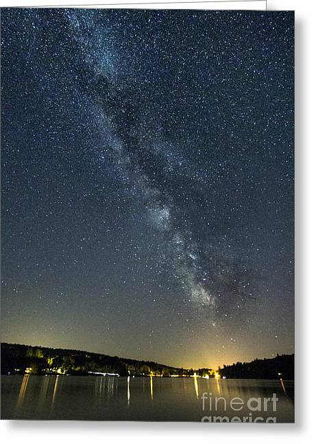 Milky Way From A Pontoon Boat Greeting Card by Patrick Fennell