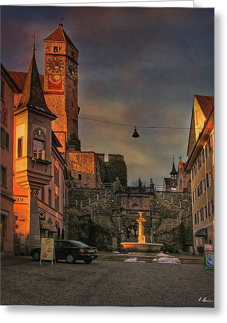 Greeting Card featuring the photograph Main Square by Hanny Heim