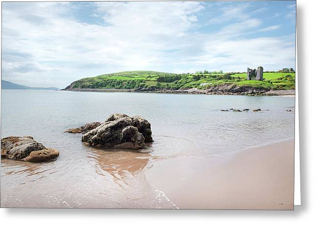 Minard Beach And Castle Greeting Card by James Brown