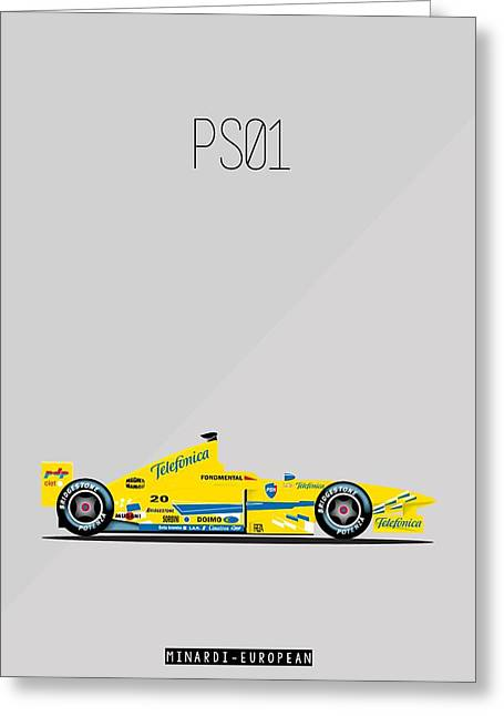Minardi European Ps01 F1 Poster Greeting Card by Beautify My Walls