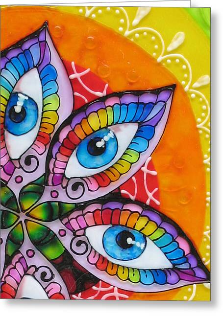 Mind Eyes - Detail Greeting Card by Gabriela Stavar