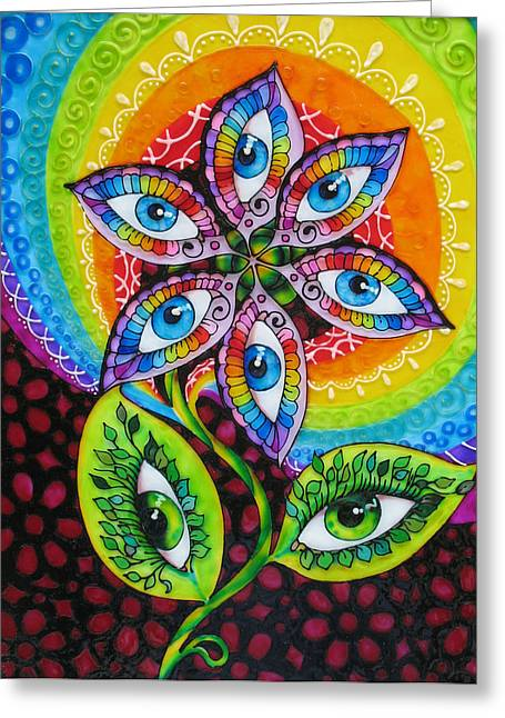 Mind Eyes Greeting Card by Gabriela Stavar