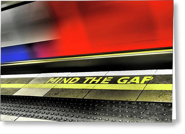 Mind The Gap Greeting Card by Rona Black