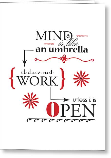 Mind Umbrella Greeting Card by Linda Carruth
