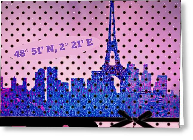 Mindy Jo's Paris  Greeting Card by Mindy Bench