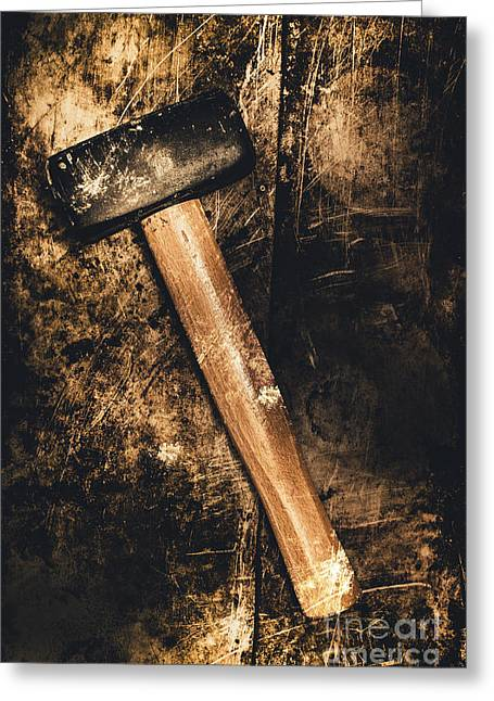 Mine Shaft Mallet Greeting Card by Jorgo Photography - Wall Art Gallery