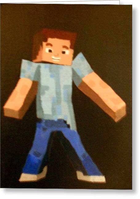 Minecraft Steve Greeting Card
