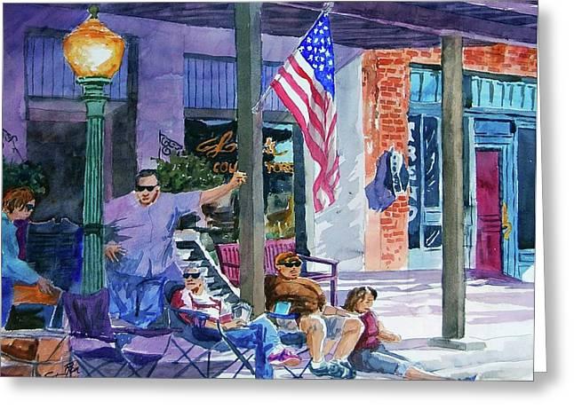 Mineola Tx Street Fair Greeting Card by Ron Stephens