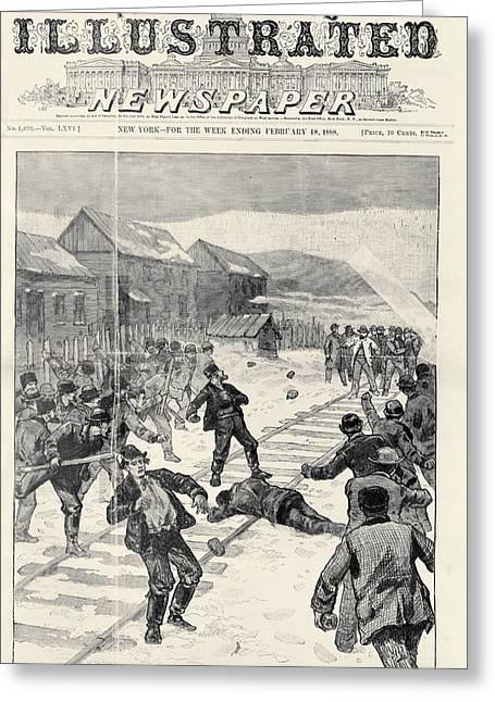 Miner Strike, 1888 Greeting Card