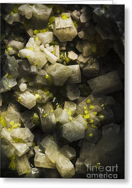 Mineral Backgrounds Greeting Card