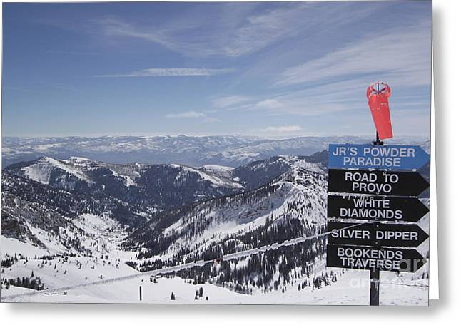 Mineral Basin Greeting Card by Adam Jewell