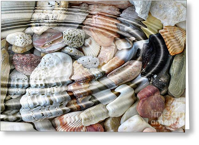 Greeting Card featuring the digital art Minerals And Shells by Michal Boubin