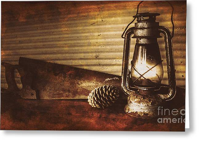 Miners Cottage Details Greeting Card