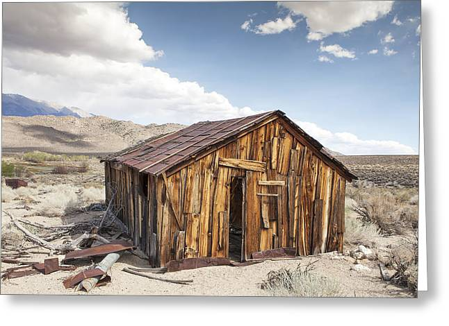 Miner's Shack In Benton Hot Springs Greeting Card