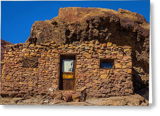 Miners Stone Shack Greeting Card