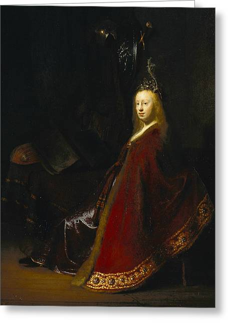 Minerva Greeting Card by Rembrandt