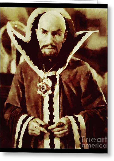 Ming The Merciless From Vintage Flash Gordon Greeting Card by Sarah Kirk