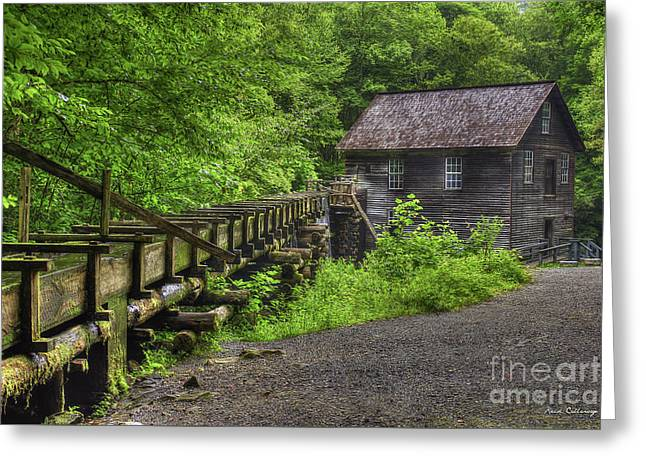 Greeting Card featuring the photograph Mingus Mill 2 Mingus Creek Great Smoky Mountains Art by Reid Callaway