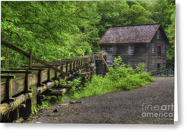 Mingus Mill 2 Mingus Creek Great Smoky Mountains Art Greeting Card