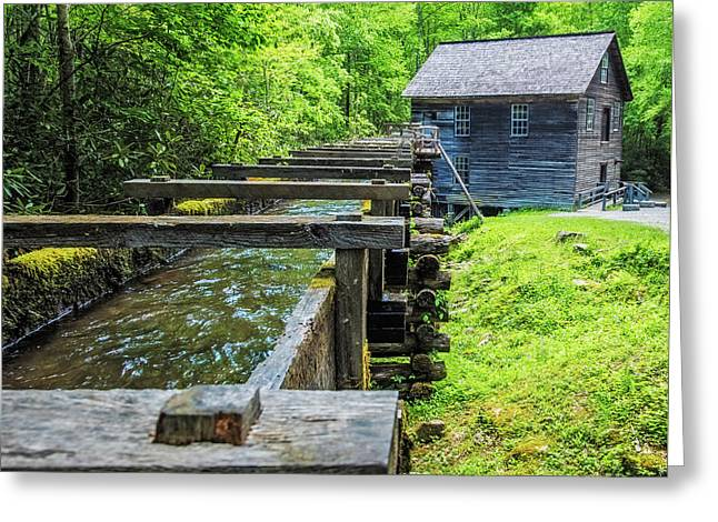 Mingus Mill Flume Greeting Card by Paul Freidlund