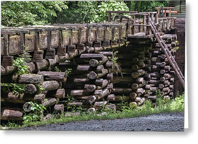 Mingus Mill Flume Greeting Card by Phyllis Taylor