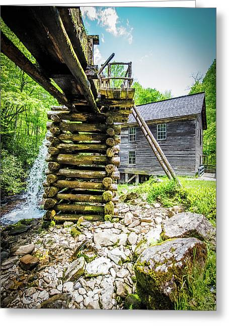Mingus Mill Overflow Greeting Card by Paul Freidlund