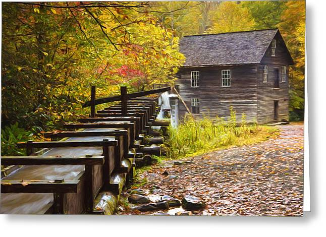 Mingus Mill Painted Greeting Card