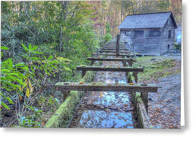 Greeting Card featuring the photograph Mingus Mill by Paul Schultz