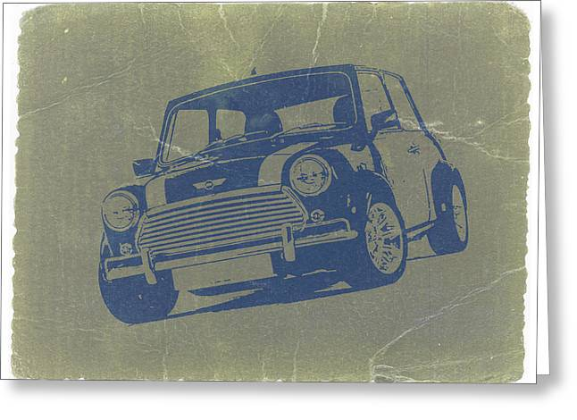 Mini Cooper Greeting Card by Naxart Studio