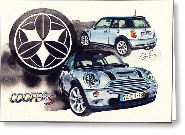 Mini Cooper S Supercharger Greeting Card