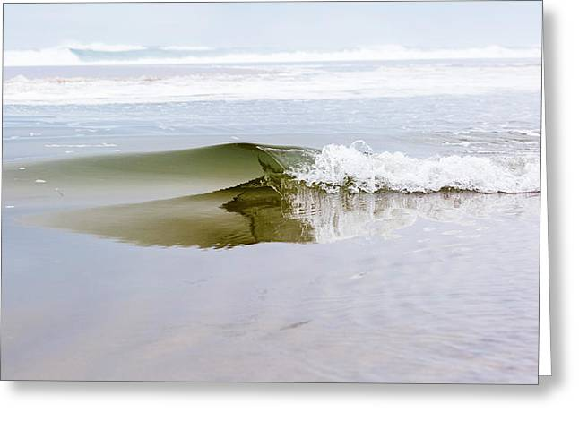 Mini Glass Wave Greeting Card by Ryan Moore
