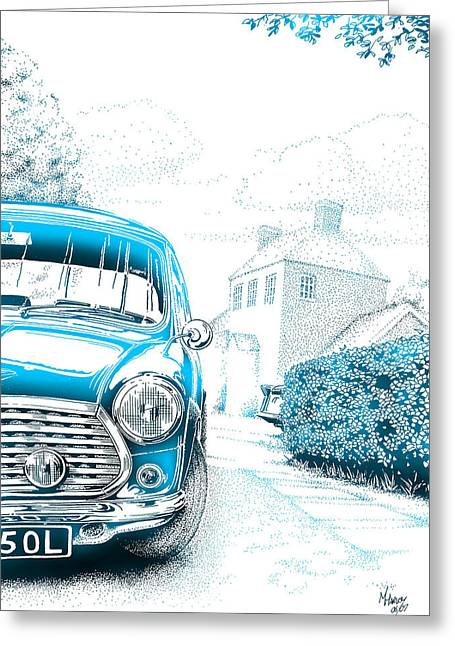 Mini On Drive Greeting Card