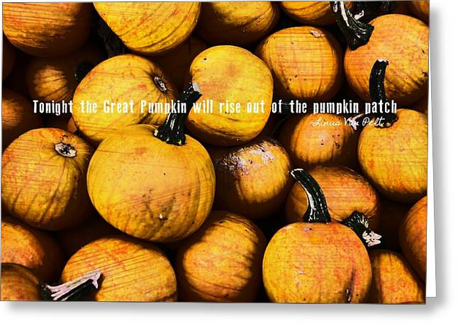 Mini Pumpkin Patch Quote Greeting Card by JAMART Photography