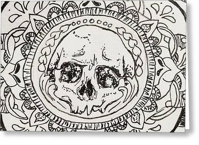 Skull Mandala Greeting Card