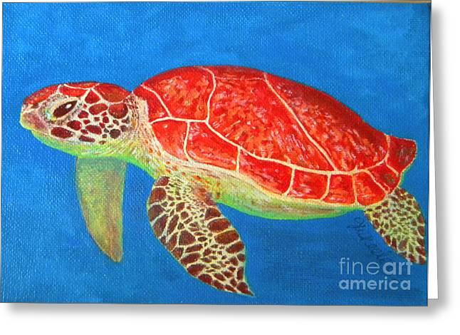 Mini Turtle Greeting Card