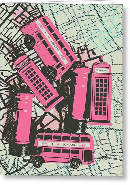 Miniature London Town Greeting Card