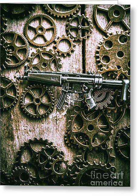 Miniature Mp5 Submachine Gun Greeting Card by Jorgo Photography - Wall Art Gallery