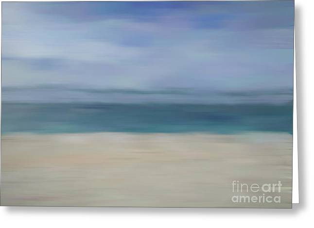 Greeting Card featuring the photograph Minimal Beach by Andrea Anderegg