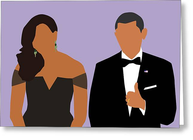 Minimal Obamas Greeting Card
