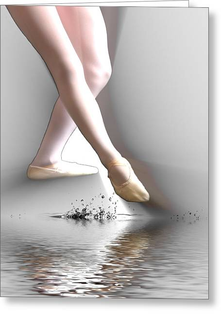 Greeting Card featuring the digital art Minimalist Ballet by Angel Jesus De la Fuente