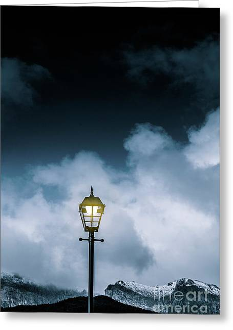 Minimalist Cold Winter Lamppost Greeting Card