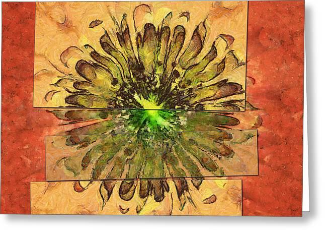 Minimaxes Fabric Flower  Id 16164-054727-17021 Greeting Card
