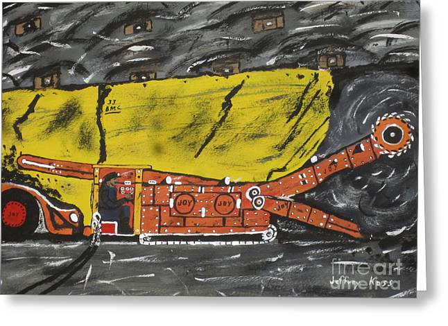 Coal Mining  Greeting Card by Jeffrey Koss