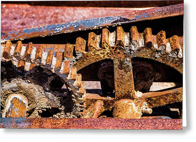 Mining Gears Greeting Card by Onyonet  Photo Studios