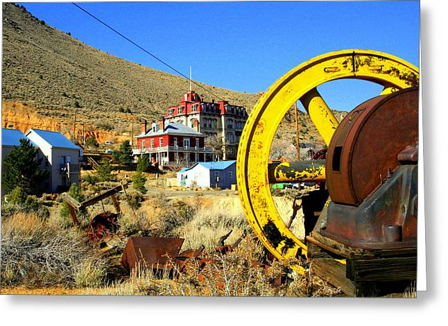 Mining Machinery Greeting Card