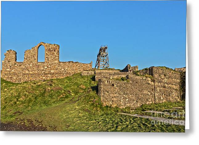 Mining Past And Present Greeting Card by Terri Waters