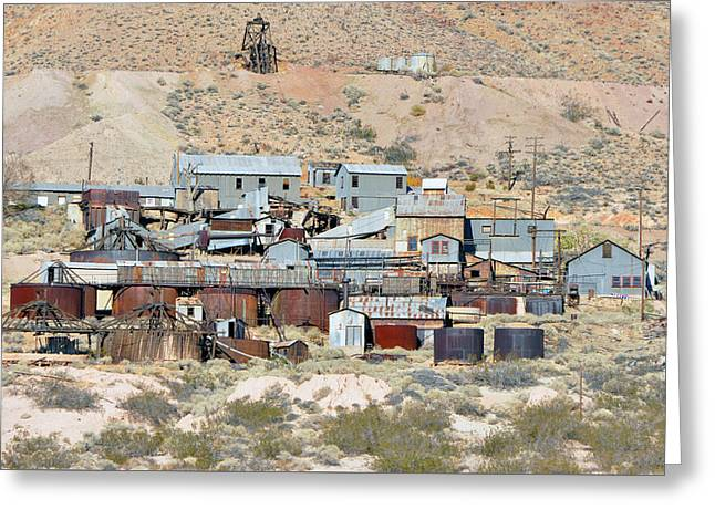 Mining Town Greeting Card by Larry Holt