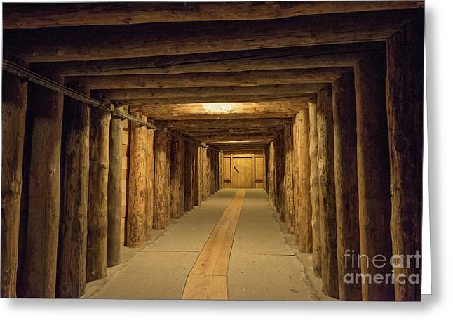 Mining Tunnel Greeting Card