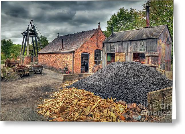 Greeting Card featuring the photograph Mining Village by Adrian Evans