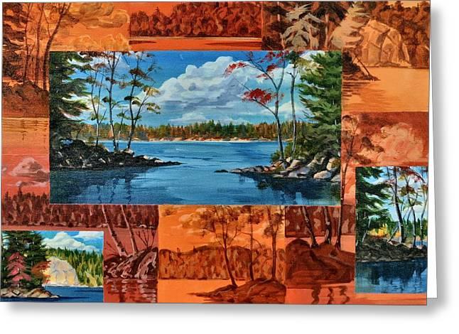 Mink Lake Looking North West Greeting Card